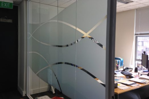 decorative window film Melbourne small office