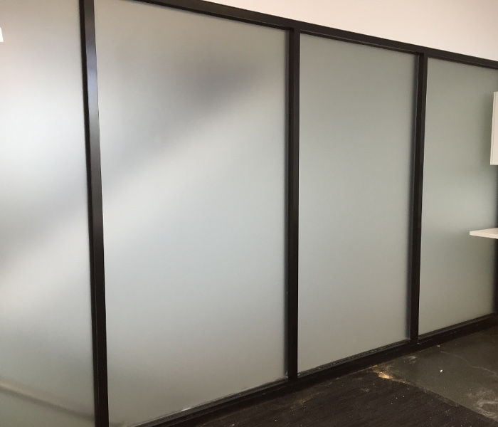 Privacy window film project partition