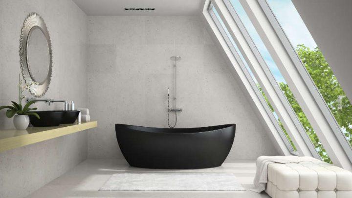 designing with glass film bathroom